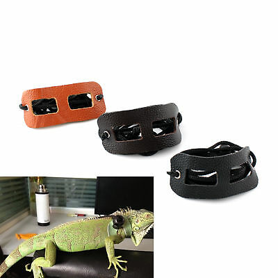 Reptile Lizard Harness Leash Pet Small Animal Genuine Leather + Buckle