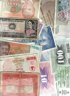 20 pieces -20 Different World Banknotes Foreign Collection Currency Mix 011
