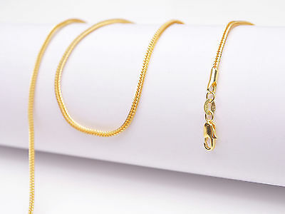"""1PCS 16-30 inch 18K Yellow Gold Filled """"FOX TAIL"""" Necklaces Chain Lobster Clasp"""