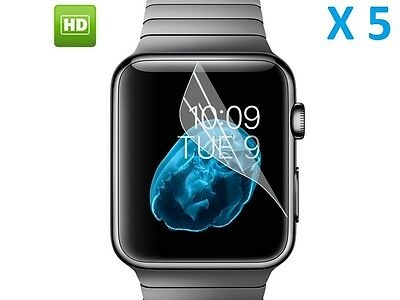 5 x Apple Watch 38mm New Genuine Ultra HD Clear Anti Scratch Screen Protector