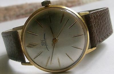 """Vintage """"Luch""""-23J- Gold Plated-20 Mikrons-Old Ussr Wrist Watch Men,S"""