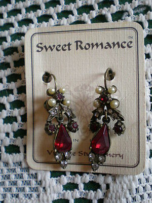 Victorian Old West Vintage Style Earings Womans Costume Jewlery