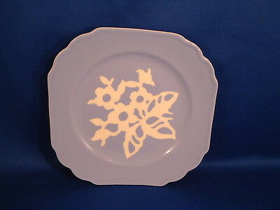 """Vintage HARKER CAMEOWARE classic PLATE 6""""  DISH White Rose Pattern antique china"""