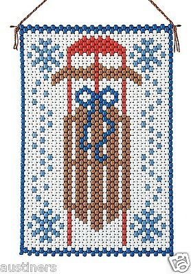 Winter Sled Beaded Banner Kit The Beadery Craft Products 7246