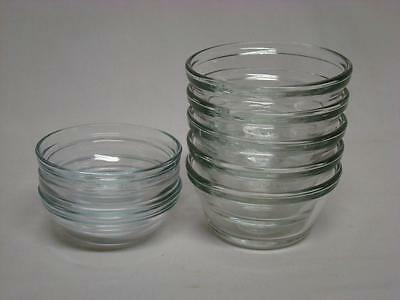 Clear Glass Custard Cups Ramekins Lot of 8