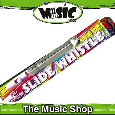"New First Note Plastic Slide Whistle - Transparent Body, 9 1/2"" Long - ED533"