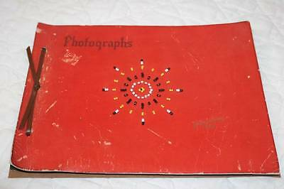 Antique Red Faux Leather Yellowstone Park SCRAPBOOK Beaded Vintage National Park