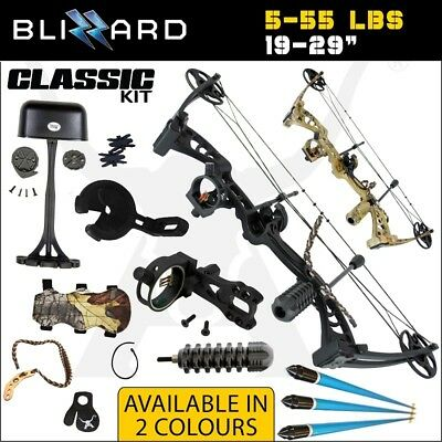 CLASSIC Blizzard 5-55 Lbs Compound Bow Kit Archery Bow Hunting