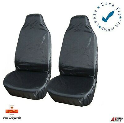 1+1 Heavy Duty Waterproof Seat Covers Protector Car 4X4 Van Bus Suv Universal