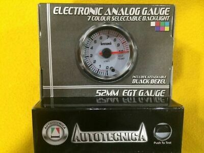 "52 mm EGT Pyro gauge 0-1000 C Autotecnica 2"" white Exhaust gas temp Pyrometer"