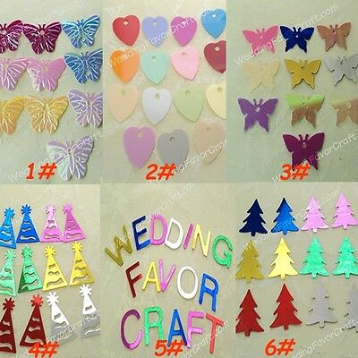 200 Loose Sequins Trim U Pick Butterfly Heart Xmas Tree Hat Mix Color Card Make