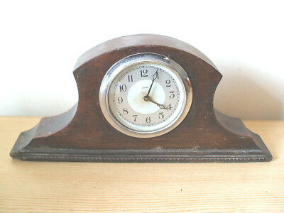 "Enfield Oak Case Winding Movement Mantle Clock 12""W"