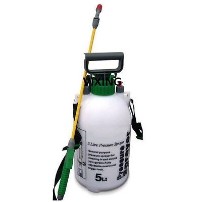 5Ltr Pressure Sprayer Bottle Garden Water Knapsack Chemical Fence Car Spray New