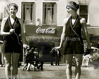 Roaring 1920s Flapper Girl's photo by Coca Cola Advertising Sign