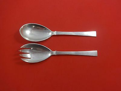 Bell by Hans Hansen Danish Denmark Sterling Salad Serving Set 2pc AS 8 1/4""