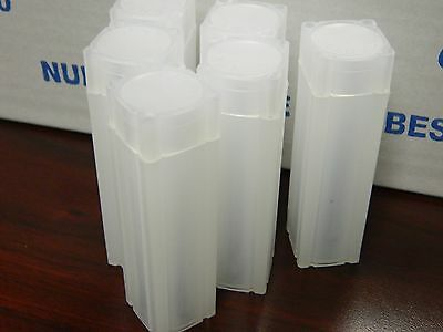 5 (Five) Square Tubes,Numis Brand,Small Dollar Size, Square Coin Tube Storage