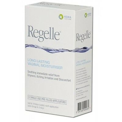 Regelle Long Lasting Vaginal Moisturiser 6 pack(dryness, itching, irritation)