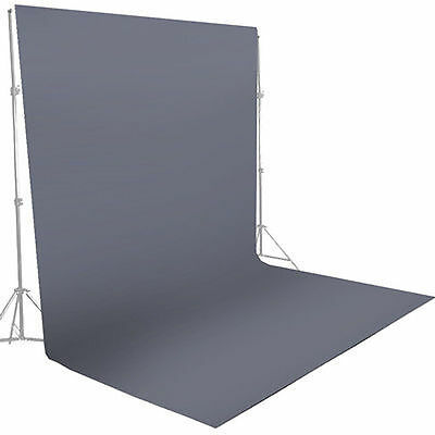 5 x 10ft Gray Muslin Backdrop Photography Background Photo Studio Screen