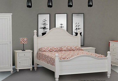 Sweet Dreams Top Quality White Rook Wooden Bed 4FT6 Double 5FT King Size