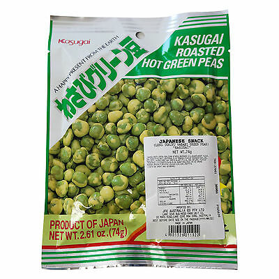 5 Bags x KASUGAI Roasted Hot Green Peas 74g • AUD 21.90