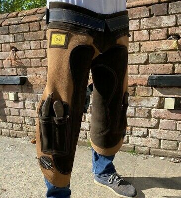 Farrier Hoof Trimming Leather Chaps Apron 2x knife magnet pockets Farriers Tools