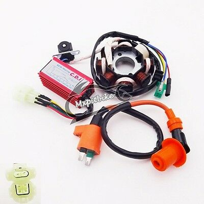 Ignition Coil CDI Box Magneto Stator GY6 125cc 150cc ATV Go Kart Moped Scooter