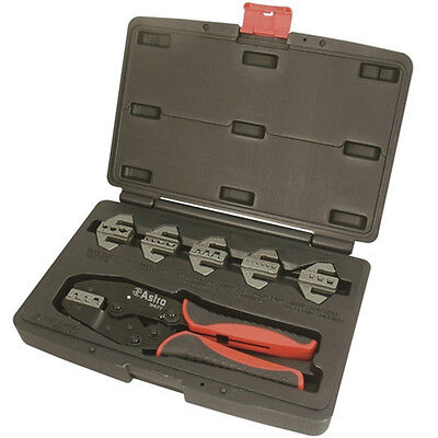 Astro Pneumatic 7pc Quick Interchangeable Ratchet Crimping Tool Set - 9477