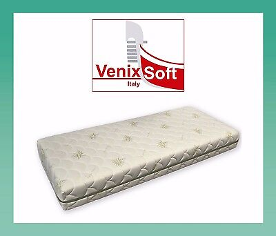 Materasso  memory  120x200 aloe vera 7 zone differenziate sfoderabile