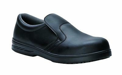 Portwest FW81 Kitchen Catering Slip On Anti Slip Workwear Food Safety Shoe Black