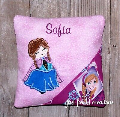 Girl Personalized Embroidered Girl Frozen Sister Anna Design Tooth Fairy Pillow
