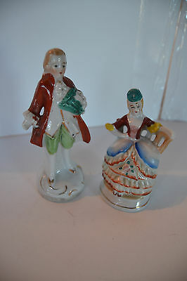 Vintage Coloinal Couple Occupied Japan Figurines Lot of 2