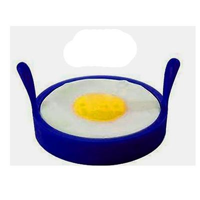 4 x Blue Silicone Non Stick baking Kitchen pancake Egg Rings