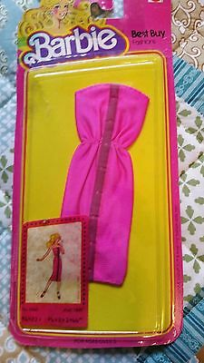 Barbie Best Buy fashions Pink strapless dress. #1466 from 1980 NEW