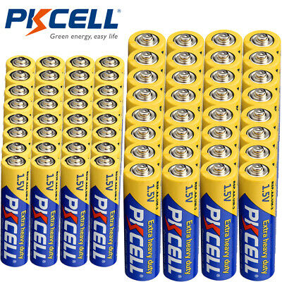 100 pcs Super Heavy Duty Zinc-carbon Batteries Single Use R6P AA PKCELL NEW