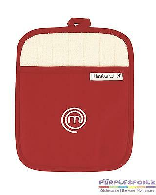 NEW MASTERCHEF POT MITT Master Chef Oven Glove Cook Cotton RED