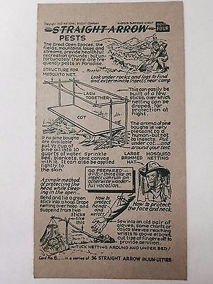 1952 Nabisco Straight Arrow Injun-Uties Card, Book 4, Card 6 of 36 series