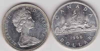Canada 1966 Silver Dollar In Near Mint Condition