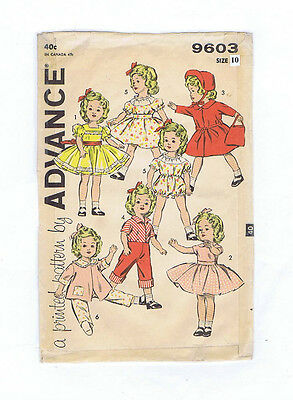 """8813-9306 Vintage Chubby Doll Pattern - Size 19"""" - Year 1949"""