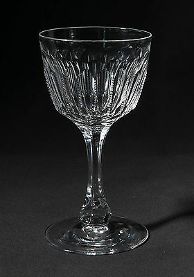 Antique Victorian High Quality Zip Cut Small Wine Glass with Mitres c1860