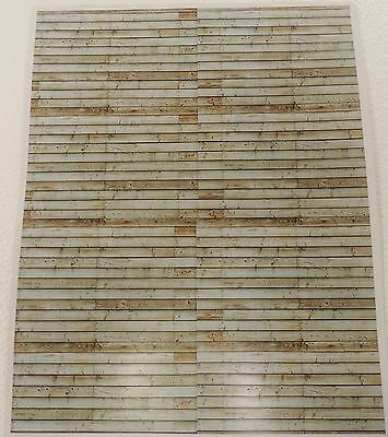 Two Wood Plank Siding Look Decal (Brown/green )1:18/1:24Scale