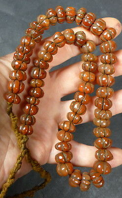 OLD CARNELIAN Spiritual Bead Necklace sourced in NEPAL. 100 + years old.