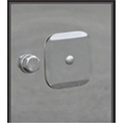 TOW PIN COVER Set for Peterbilt 388/389 - Stainless Steel (PAIR)