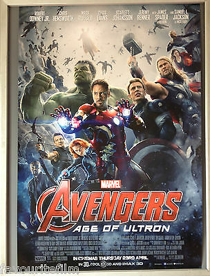 Cinema Poster: AVENGERS AGE OF ULTRON 2015 (One Sheet) Plus Free Ultron Mini