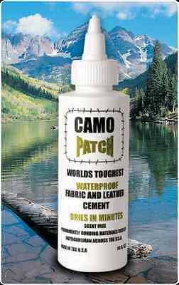 Camo Patch Waterproof Fabric & Leather Cement 4oz. DRIES IN MINUTES CamoPatch