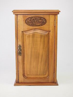 Antique Edwardian Bedside Cabinet - Small Mahogany Side Cabinet Hall Cupboard