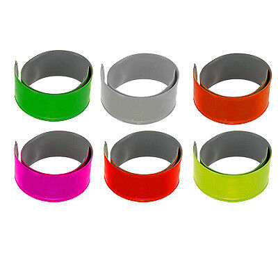 Reflective High Viz Slap Wrap Arm Band Ankle Running Clip Bike Bicycle Cycle Leg