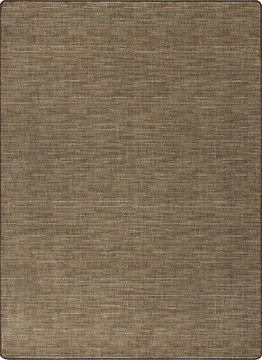 Stitches Oilskin Brown Milliken Cut Pile Pattern Area Rug Many Sizes Living Room