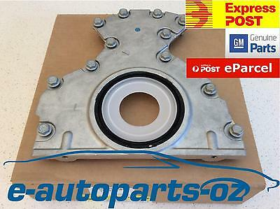 Genuine Holden Rear Main  Oil Seal and Plate/Housing: Commodore HSV LS1 LS2  V8