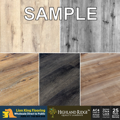 Highland Ridge Laminate Flooring/ Premium Floating Floor Sample Pack -7 Colours
