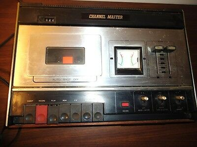 Vintage Channel Master Model 6621 Stereo Cassette Corder - working  *A4*